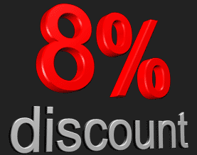8% discount